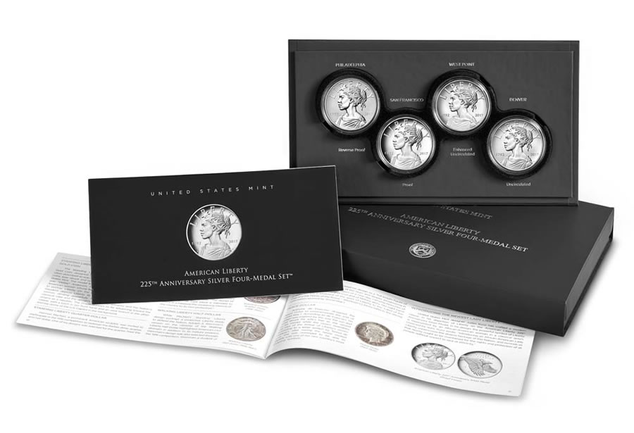 2017-225th Anniversary American Liberty One Ounce Silver Medal