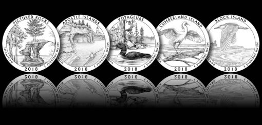 Designs for 2018 America the Beautiful Quarters and 5 oz Silver Coins