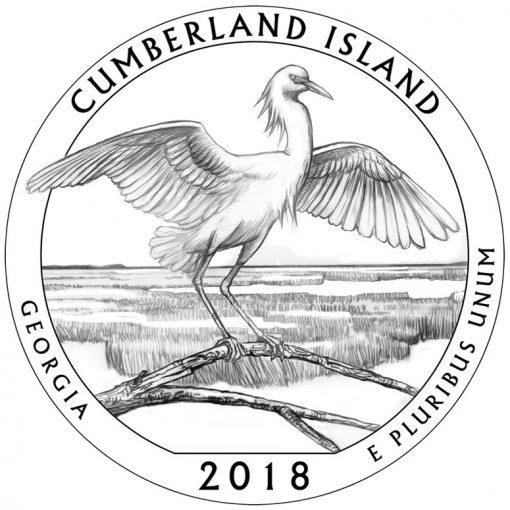 Georgia's Cumberland Island National Seashore Quarter and Coin Design