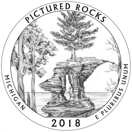 Michigan's Pictured Rocks National Lakeshore Quarter and Coin Design
