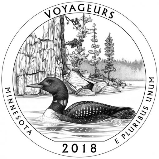 Minnesota's Voyageurs National Park Quarter and Coin Design