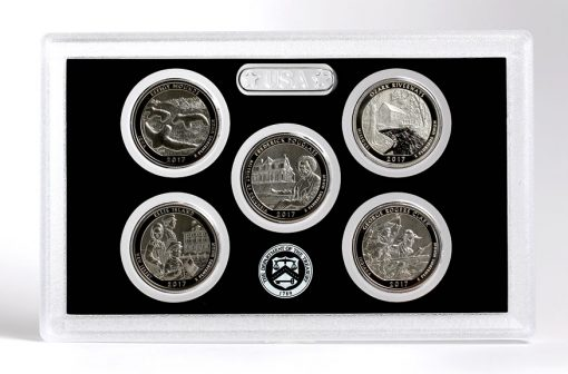 Reverses of Quarters in 2017-S Enhanced Uncirculated Coin Set
