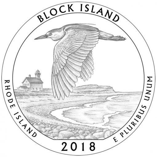 Rhode Island's Block Island National Wildlife Refuge Quarter and Coin Design