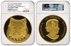 NGC Authenticates 'Mule' Error on 2017 Canadian Timber Wolf Gold Coin