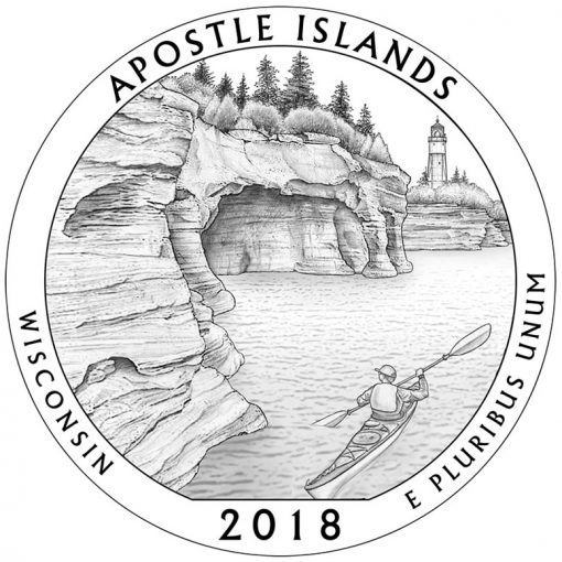 Wisconsin's Apostle Islands National Lakeshore Quarter and Coin Design
