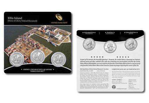 2017 Ellis Island Quarters Three-Coin Set