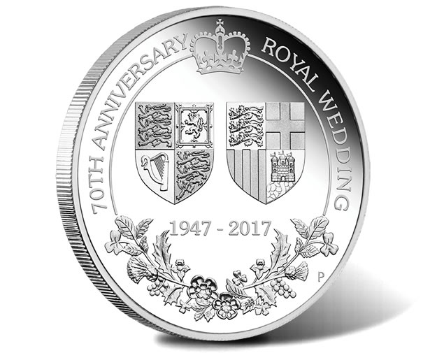 70th Anniversary of the Royal Wedding 2017 1oz Silver Proof Coin