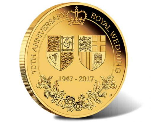 70th Anniversary of the Royal Wedding 2017 2oz Gold Proof Coin