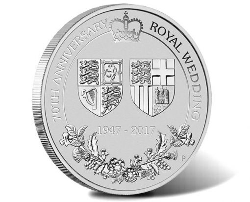 70th Anniversary of the Royal Wedding 2017 2oz Platinum Coin