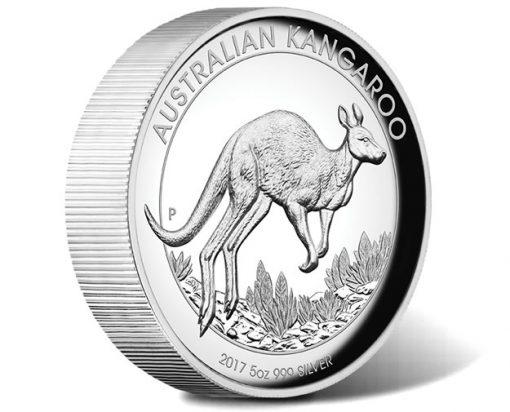 Australian Kangaroo 2017 5oz Silver Proof High Relief Coin