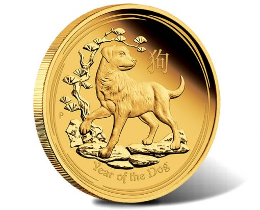 Australian Lunar Gold Coin Series 2018 Year of the Dog 1oz Gold Proof Coin