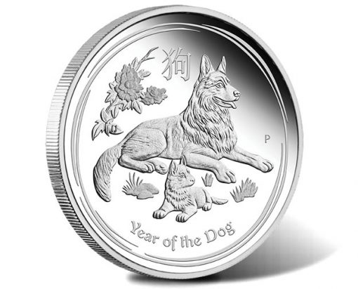 Australian Lunar Series II 2018 Year Of The Dog Silver Proof Coin