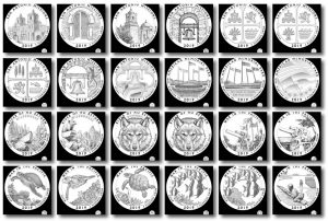 2019 Quarter and 5 Oz Coin Design Candidates