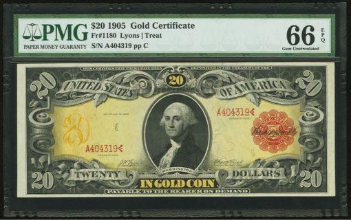 Fr. 1180 $20 1905 Gold Certificate