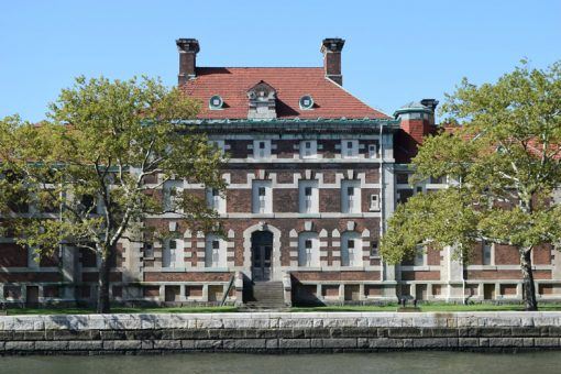 One of the hospital buildings on Ellis Island in New Jersey. U.S. Mint photo by Sharon McPike.