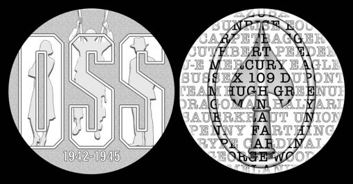 Recommended OSS Medal Designs (obverse and reverse)