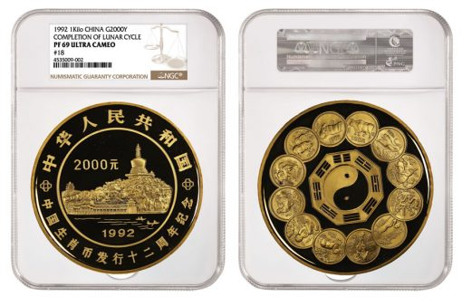1992 Completion of the Lunar Cycle Gold 2,000 Yuan