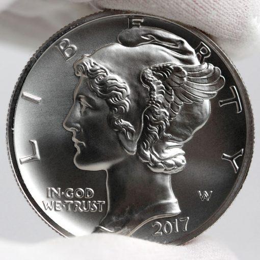 2017 $25 American Palladium Eagle Bullion Coin - Obverse-a
