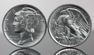 2017 $25 American Palladium Eagle Bullion Coins - Obverse and Reverse