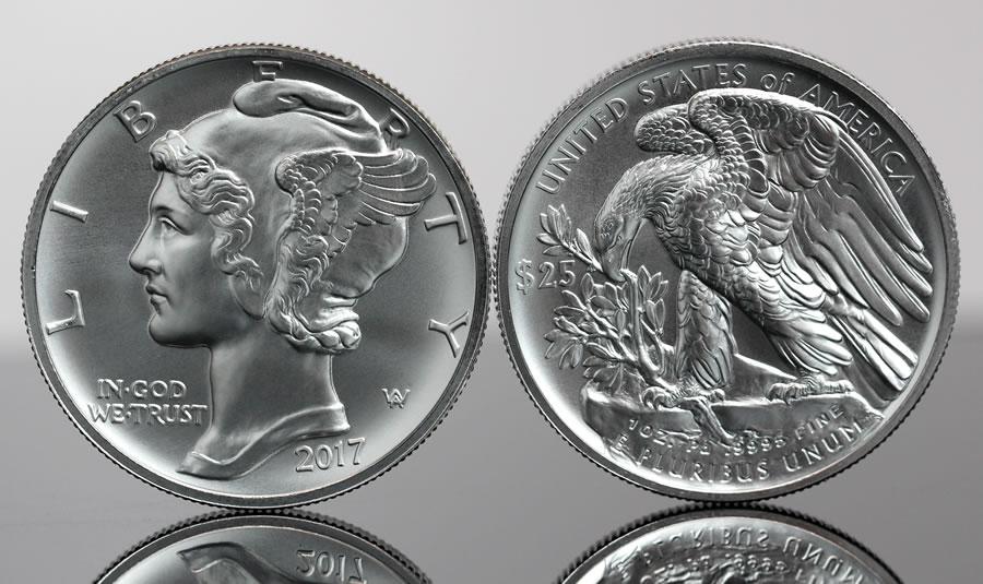 Photos Of 2017 25 American Palladium Eagle Bullion Coins