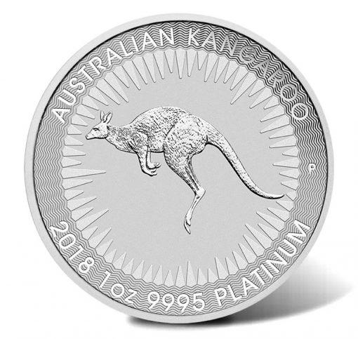 2018 $100 Australian Kangaroo 1oz Platinum Bullion Coin - Reverse