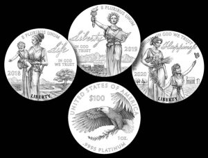 2018-2020 Proof American Platinum Eagle Designs
