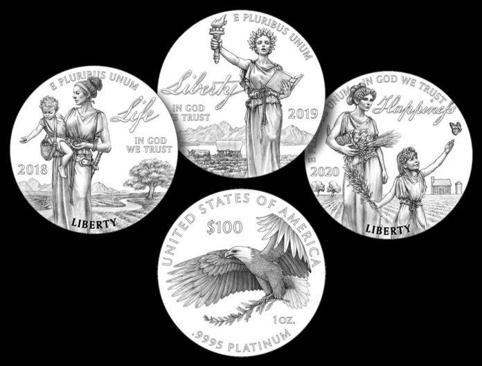 2018-2020 Proof American Platinum Eagle Designs