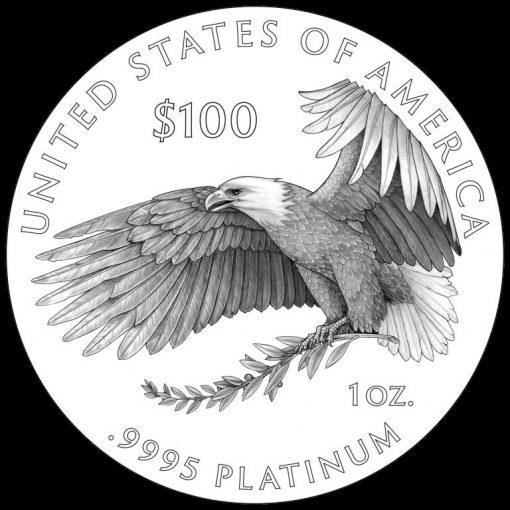 2018-2020 Proof American Platinum Eagle Reverse Design