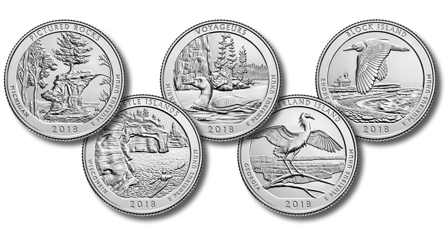 2018 America The Beautiful Quarter Images And Release
