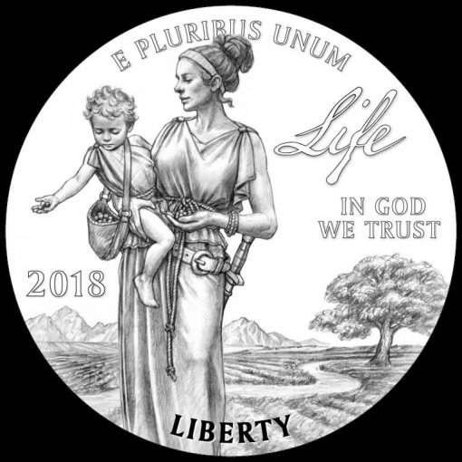 2018-W Proof American Platinum Eagle - Obverse Life Design