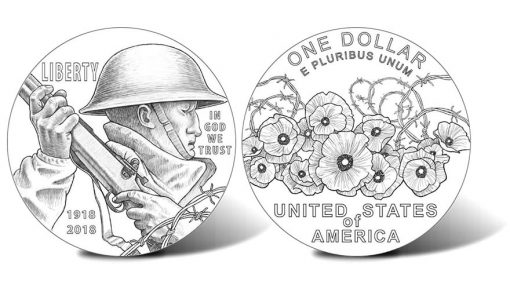 2018 World War I American Veterans Centennial Silver Dollar Designs