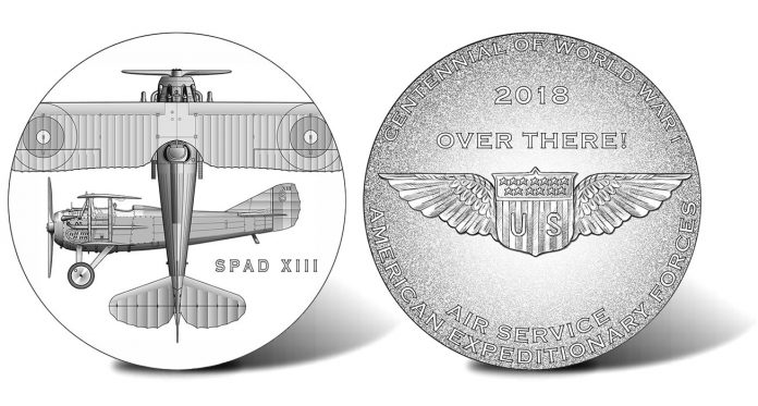 2018 World War I Centennial Air Service Silver Medal Designs