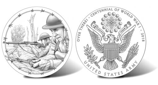 2018 World War I Centennial Army Silver Medal Designs