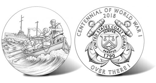 2018 World War I Centennial Coast Guard Silver Medal Designs