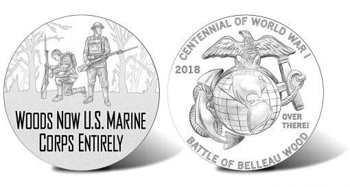 2018 World War I Centennial Marine Corps Silver Medal Designs