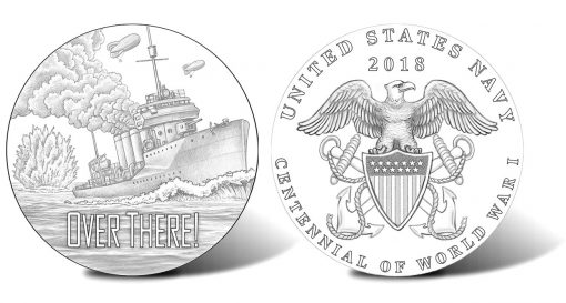 2018 World War I Centennial Navy Silver Medal Designs