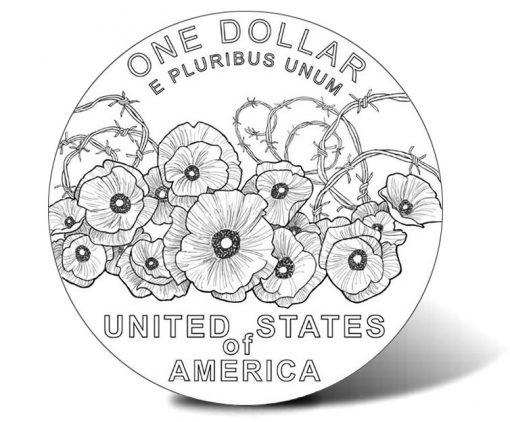 2018 World War I Centennial Silver Dollar (Reverse)