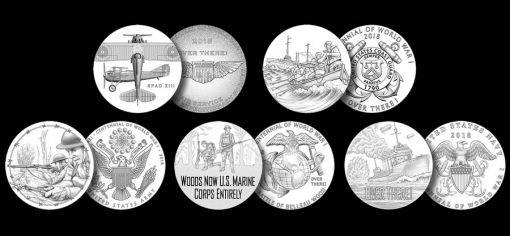 2018 World War I Centennial Silver Medal Designs
