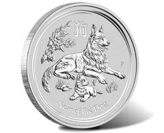 2018 Year of the Dog 1oz Silver Bullion Coin