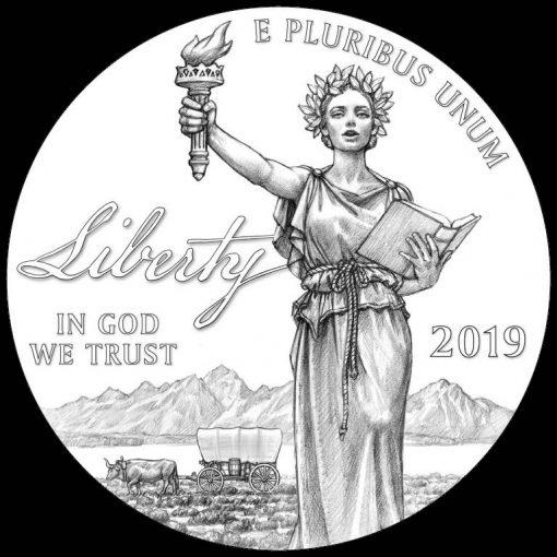 2019-W Proof American Platinum Eagle - Obverse Liberty Design
