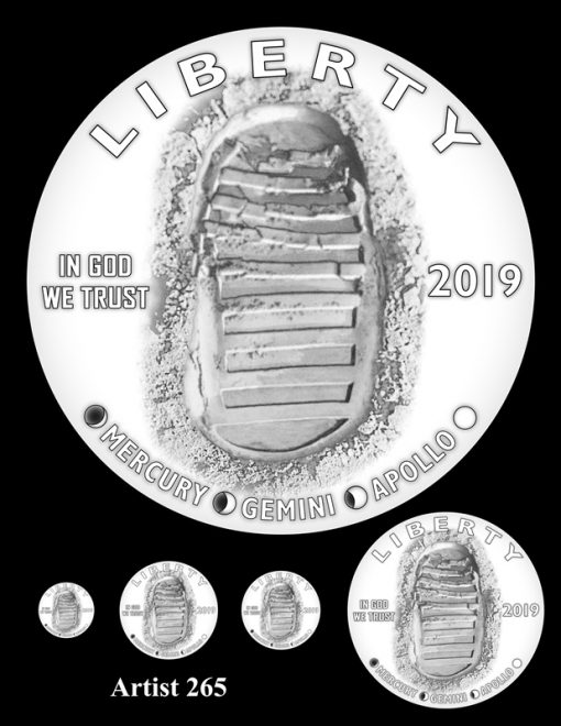 Artist 265 - Obverse Apollo 11 Commemorative Coin Design