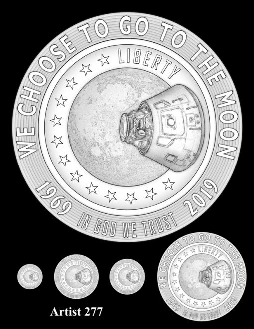 Artist 277 - Obverse Apollo 11 Commemorative Coin Design