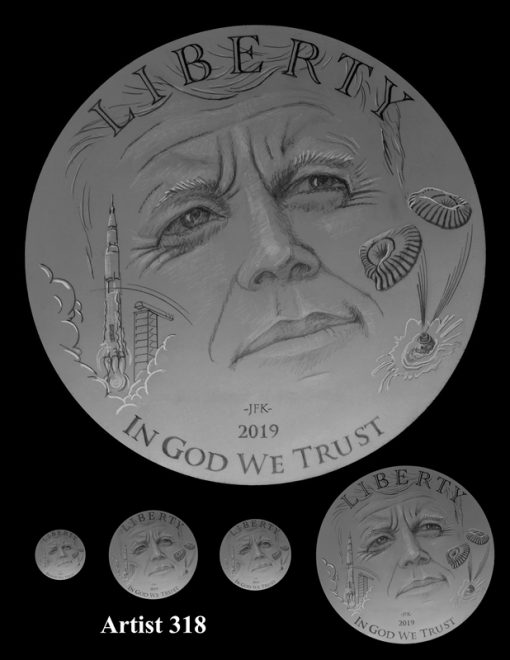 Artist 318 - Obverse Apollo 11 Commemorative Coin Design
