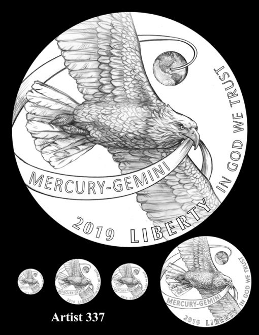 Artist 337 - Obverse Apollo 11 Commemorative Coin Design