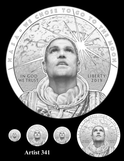 Artist 341 - Obverse Apollo 11 Commemorative Coin Design