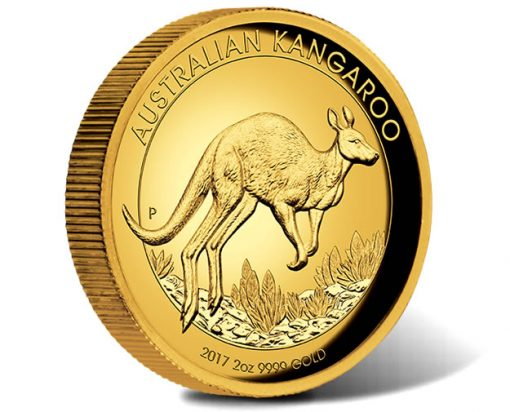 Australian Kangaroo 2017 2oz Gold Proof High Relief Coin