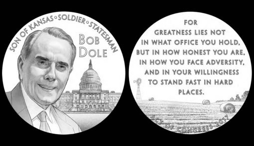 Bob Dole Congressional Gold Medal Design - Obverse and Reverse