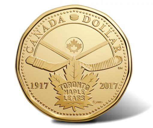 Canadian 2017 $1 100th Anniversary Toronto Maple Leafs Circulation Coin - Reverse
