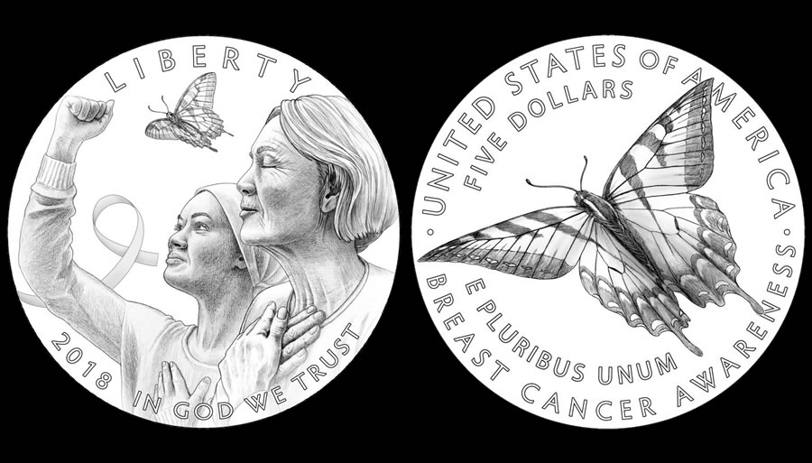2018 breast cancer commemorative coin designs coin news