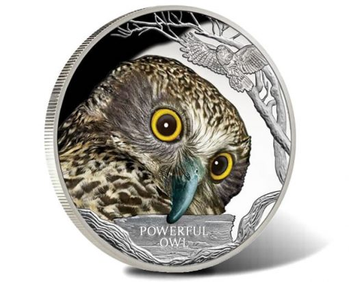 Endangered and Extinct 2018 Powerful Owl 1oz Silver Proof Coin